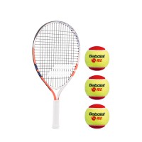 KIT FRENCH OPEN JR 21 + 3 RED FELT BALLS